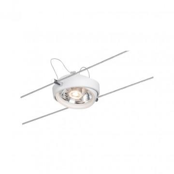 Светодиодный светильник с регулировкой направления света для тросовой системы Paulmann Powerline II 94201, LED 8W, белый, металл, металл с пластиком