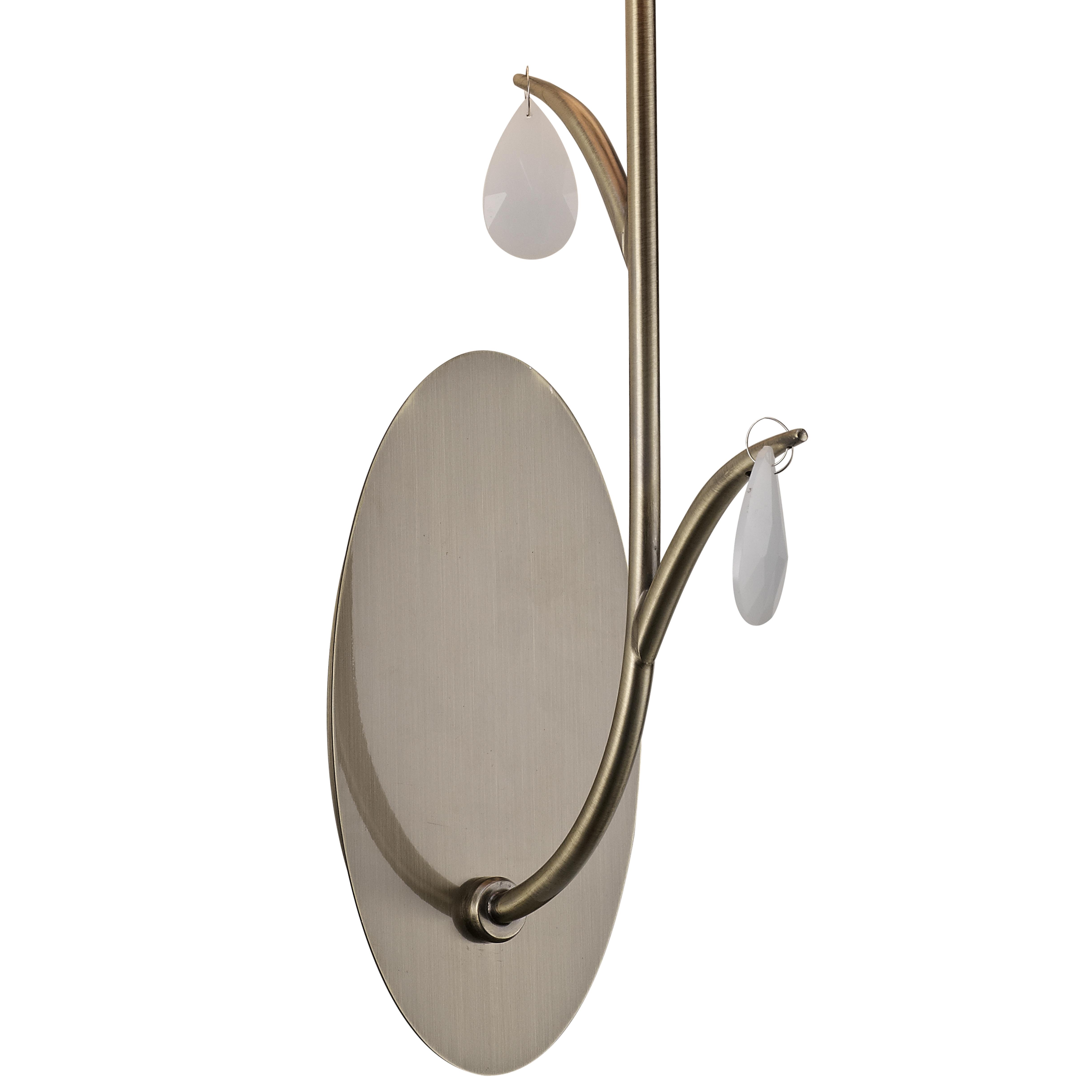 Бра Mantra Andrea 6337, золото, белый, металл, текстиль, хрусталь - фото 3