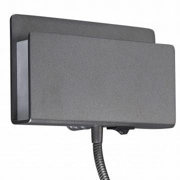 Настенный светильник с регулировкой направления света с дополнительной подсветкой Mantra Cabarete 5714, белый, черный, металл, пластик - миниатюра 2