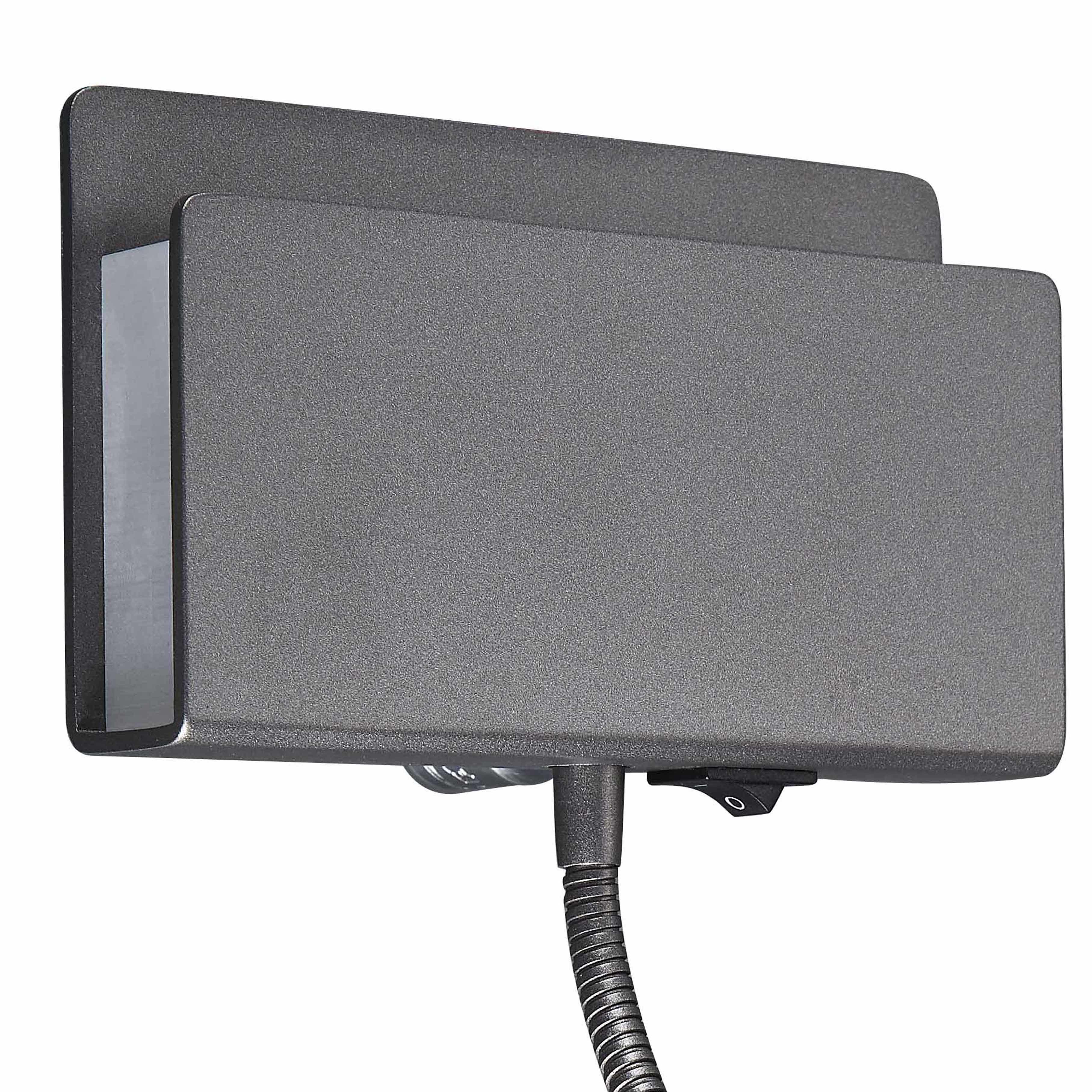 Настенный светильник с регулировкой направления света с дополнительной подсветкой Mantra Cabarete 5714, белый, черный, металл, пластик - фото 2