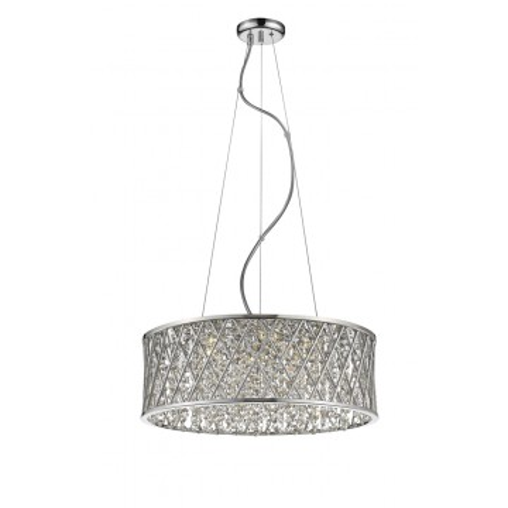 Подвесная люстра Mantra Destello 6256, хром, прозрачный, металл, хрусталь