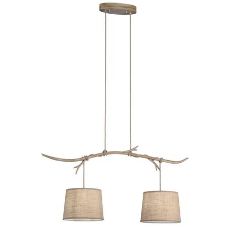 Подвесной светильник Mantra Sabina 6177, коричневый, бежевый, металл, текстиль