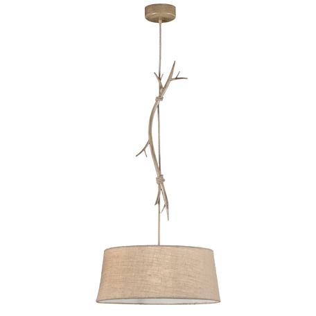 Подвесной светильник Mantra Sabina 6178, коричневый, бежевый, металл, текстиль