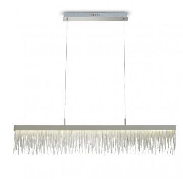 Подвесной светильник Mantra Cinna 6250, хром, прозрачный, металл, хрусталь