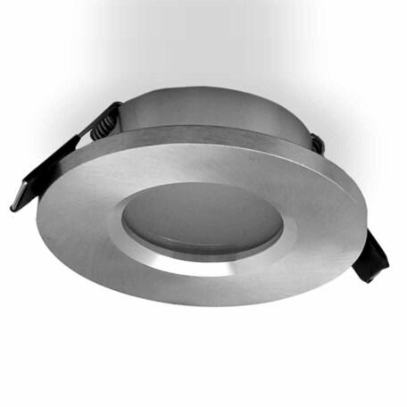 Встраиваемый светильник Mantra Atlantis 6406, IP54, серебро, металл, стекло