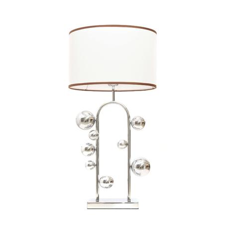 Настольная лампа Lumina Deco Fabi LDT 5528 CHR+WT, 1xE27x40W, хром, белый, металл, текстиль