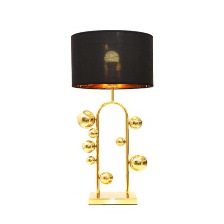 Настольная лампа Lumina Deco Fabi LDT 5528 GD+BK, 1xE27x40W, золото, черный, металл, текстиль