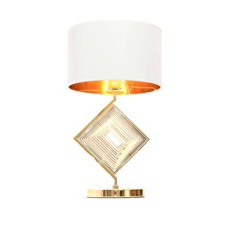 Настольная лампа Lumina Deco Fabi LDT 5529 F.GD+WT, 1xE27x40W, золото, белый, металл, текстиль