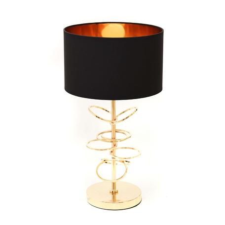 Настольная лампа Lumina Deco Milari LDT 5530 F.GD+BK, 1xE27x40W, золото, черный, металл, текстиль