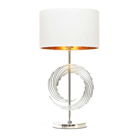 Настольная лампа Lumina Deco Fabi LDT 5531 CHR+WT, 1xE27x40W, хром, белый, металл, текстиль