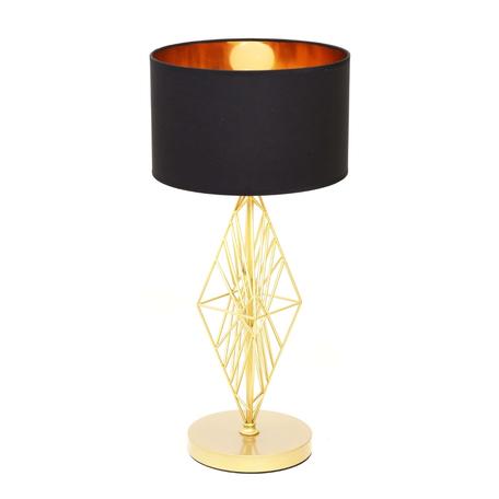 Настольная лампа Lumina Deco Salvari LDT 5533 GD+BK, 1xE27x40W, золото, черный, металл, текстиль
