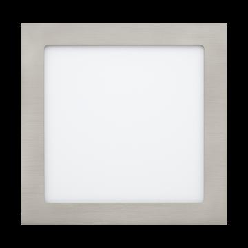 Встраиваемая светодиодная панель Eglo Fueva 1 31677, LED 16,5W, никель, металл, пластик