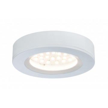 Мебельный светодиодный светильник для встраиваемого или накладного монтажа Paulmann Micro Line LED Platy 93573, LED 2,5W, белый, пластик