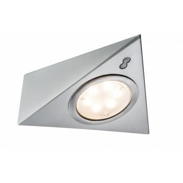 Мебельный светодиодный светильник Paulmann Micro Line LED Triangle Sensor 93572, LED 2,8W, матовый хром, металл