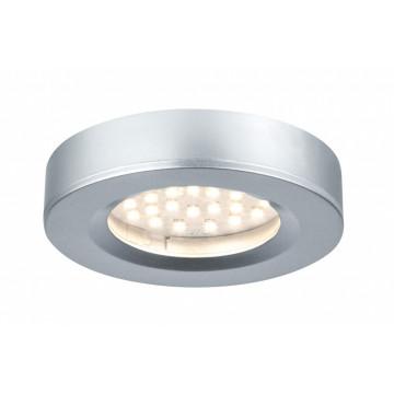 Мебельный светодиодный светильник Paulmann Micro Line LED Platy 93580, LED 2,5W, матовый хром, пластик