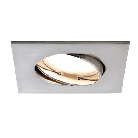 Встраиваемый светодиодный светильник Paulmann Premium Line LED 230V Coin Satin 51mm 92841, IP23, LED 7W, металл
