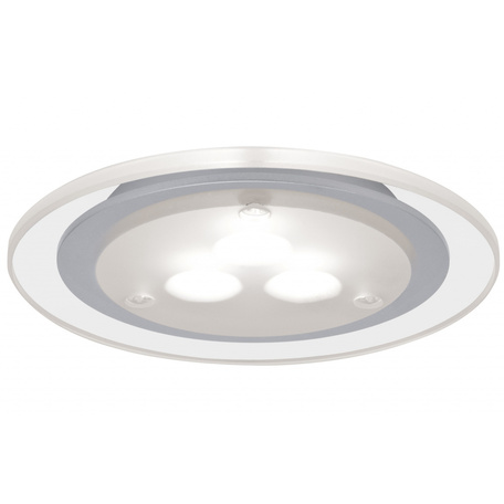 Встраиваемый мебельный светодиодный светильник Paulmann Micro Line Deco LED 93543, LED 3W, прозрачный, матовый хром, металл с пластиком
