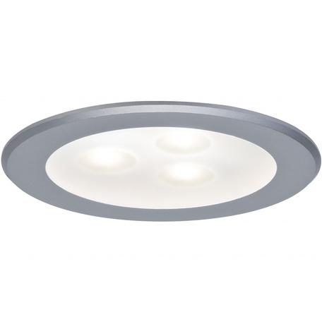 Встраиваемый мебельный светодиодный светильник Paulmann Micro Line HighPower LED 93544, LED 3W, матовый хром, металл