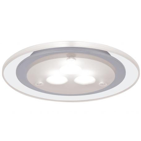 Встраиваемый мебельный светодиодный светильник Paulmann Micro Line Deco LED 93549, LED 3W, матовый хром, металл с пластиком