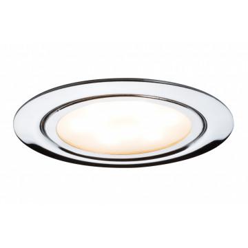 Встраиваемый мебельный светодиодный светильник Paulmann Micro Line LED 93552, LED 4,5W, хром, металл