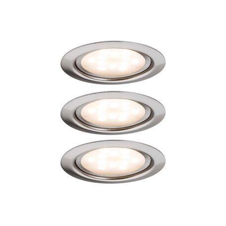 Встраиваемый мебельный светодиодный светильник Paulmann Micro Line LED 93553, LED 4,5W, матовый хром, металл