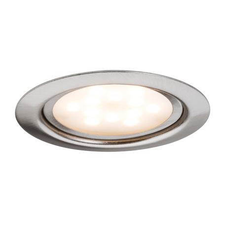 Встраиваемый мебельный светодиодный светильник Paulmann Micro Line LED 93556, LED 4,5W, матовый хром, металл