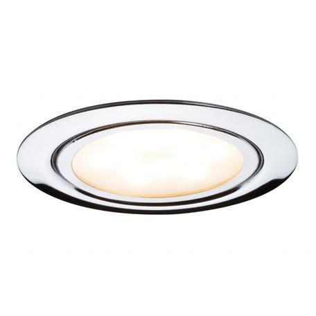 Встраиваемый мебельный светодиодный светильник Paulmann Micro Line LED 93557, LED 4,5W, хром, металл