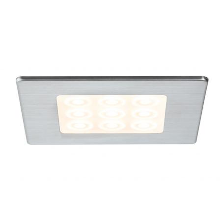 Встраиваемый мебельный светодиодный светильник Paulmann Micro Line LED 93558, LED 3,6W, матовый хром, металл