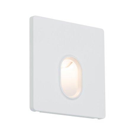 Встраиваемый настенный светодиодный светильник Paulmann Wall 230V 92922, LED 1,7W, белый, пластик