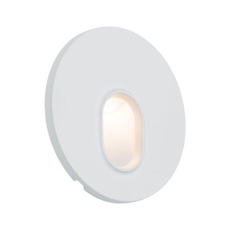 Встраиваемый настенный светодиодный светильник Paulmann Wall 230V 92924, LED 1,7W, белый, пластик