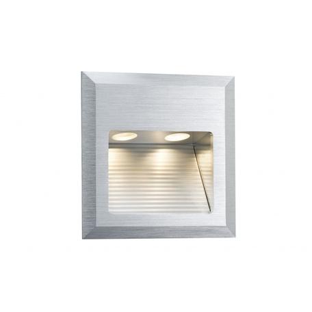 Встраиваемый настенный светодиодный светильник Paulmann Wall LED Quadro 93753, LED 2W, алюминий, металл