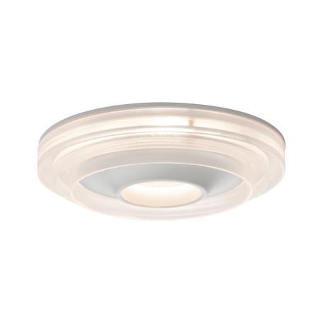 Встраиваемый светодиодный светильник Paulmann Premium Drip IP44 230V dimmable 92913, IP44, LED 8W, белый, прозрачный, металл