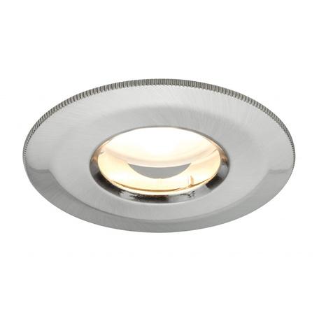 Встраиваемый светодиодный светильник Paulmann Premium Line LED IP65 230V Coin 51mm 92848, IP65, LED 7W, матовый хром, металл