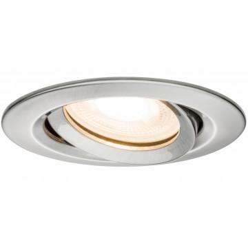 Встраиваемый светильник Paulmann Premium Nova IP65 adjustable GU10 dimmable 92900, IP65, 1xGU10x35W, металл