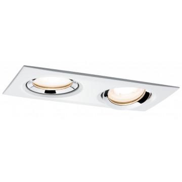 Встраиваемый светильник Paulmann Premium Nova IP65 adjustable GU10 dimmable 92902, IP65, 2xGU10x35W, металл