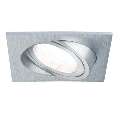 Встраиваемый светильник Paulmann Premium Line Drilled Alu dimmable 92919, IP23, 1xGU10x6W, металл