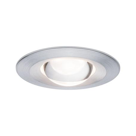 Встраиваемый светодиодный светильник Paulmann Premium Nova anti glare lens dim 92932, IP44, LED 6,8W, алюминий, металл