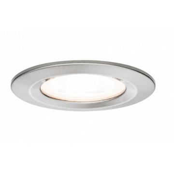 Встраиваемый светильник Paulmann Premium LED Nova 230V GU10 51mm dimmable 93599, IP44, 1xGU10x7W, матовый хром, металл