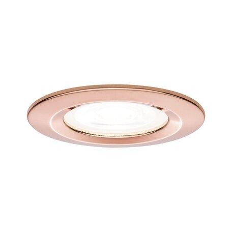 Встраиваемый светильник Paulmann Premium LED Nova dimmable 93600, IP44, 1xGU10x7W, медь, металл