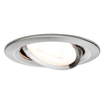 Встраиваемый светильник Paulmann Premium LED Nova 230V GU10 51mm dimmable 93607, IP23, 1xGU10x7W, металл
