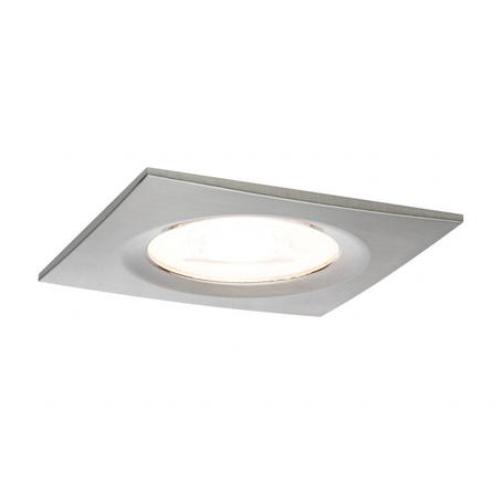 Встраиваемый светильник Paulmann Premium LED Nova 230V GU10 51mm dimmable 93615, IP44, 1xGU10x7W, матовый хром, металл