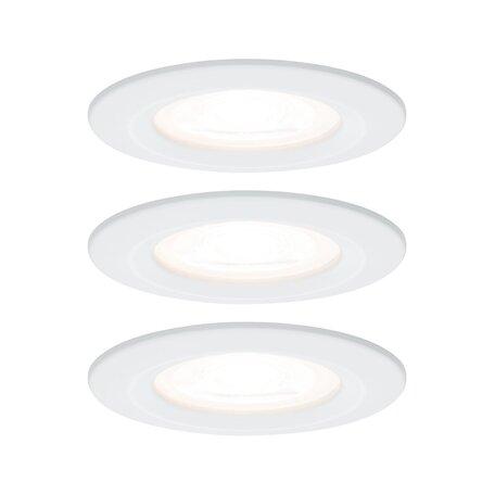 Встраиваемый светильник Paulmann Premium Nova 230V GU10 51mm 93653, IP44, 1xGU10x5,5W, белый, металл