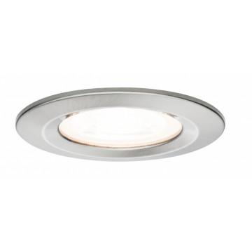 Встраиваемый светильник Paulmann Premium Nova 93654, IP44, 1xGU10x5,5W, матовый хром, металл
