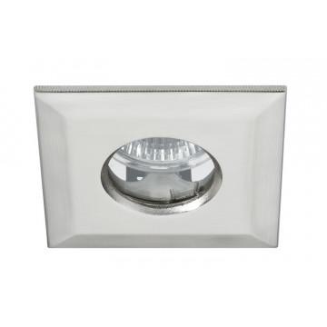Встраиваемый светильник Paulmann Premium Line IP65 Quadro 93726, IP65, 1xGU5.3x35W, матовый хром, металл