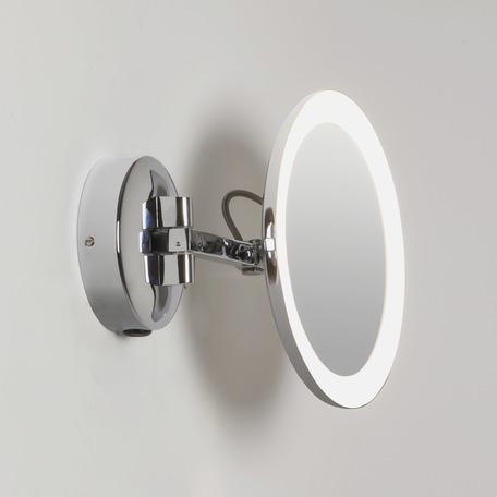 Косметическое зеркало со светодиодной подсветкой и увеличением Astro Mascali 1373001 (7627), IP44, LED 5,3W 2700K 76.16lm CRI80, хром, металл