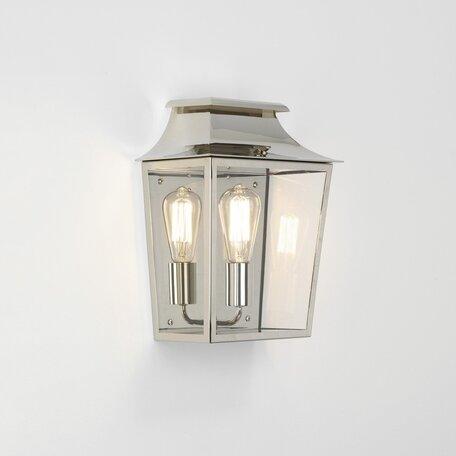 Настенный фонарь Astro Richmond 1340003 (7948), IP44, 1xE27x60W, никель, прозрачный, металл, стекло
