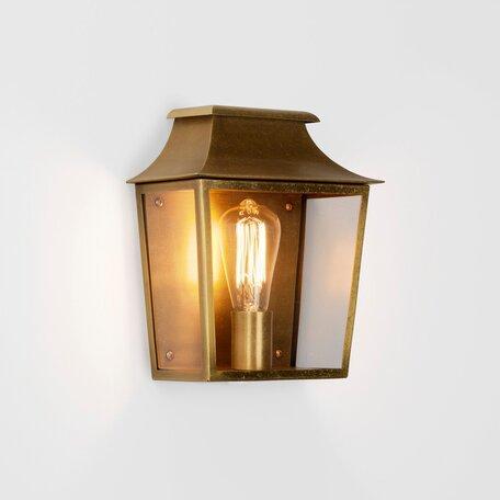 Настенный фонарь Astro Richmond 1340006 (7864), IP44, 1xE27x60W, бронза, прозрачный, стекло - миниатюра 1