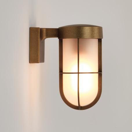 Настенный фонарь Astro Cabin 1368008 (7850), IP44, 1xE27x60W, бронза, металл, металл со стеклом - миниатюра 1