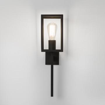 Настенный фонарь Astro Coach 1369001 (7563), IP44, 1xE27x60W, черный, прозрачный, металл, стекло - миниатюра 2