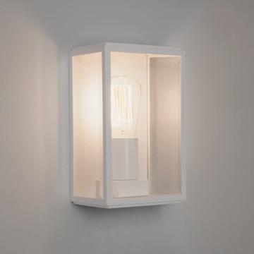 Настенный светильник Astro Homefield 1095012 (7587), IP44, 1xE27x60W, белый, прозрачный, стекло